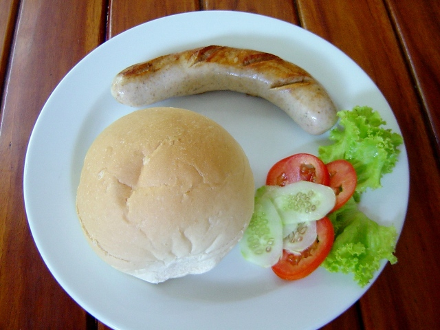 Restaurant Eat Here Klong Son Koh Chang sandwiches German bratwurst