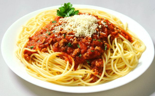 Spaghetti with homemade Bolognese